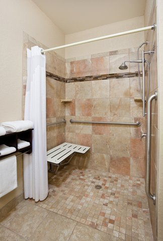 Holiday Inn Express & Suites ABERDEEN - ADA Handicapped accessible Guest Bathroom with roll-in shower
