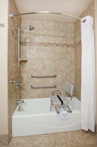 Holiday Inn Express & Suites ABERDEEN - ADA Handicapped accessible Guest Bathroom with mobility tub