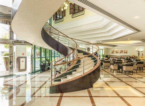 Coral Dubai Deira Hotel - Lobby Staircase