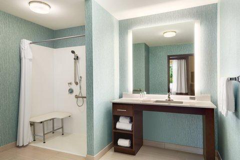 Homewood Suites Atlanta/Perimeter Center - Accessible King Suite Bathroom