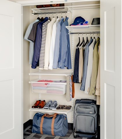 TownePlace Suites Republic Airport Long Island/Farmingdale - elfa  closet from The Container Store