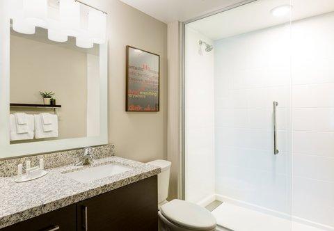 TownePlace Suites Republic Airport Long Island/Farmingdale - Suite Vanity   Bathroom Area