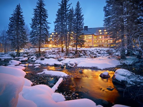 Vail Cascade Resort and Spa - Vail Cascade Exterior Winter Gore Creek Signature