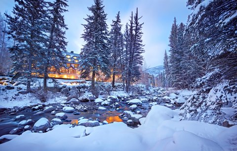 Vail Cascade Resort and Spa - Vail Cascade Exterior Winter Gore Creek