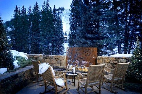 Vail Cascade Resort and Spa - Vail Cascade Exterior Fireplace