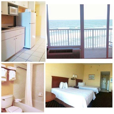 Emerald Shores Hotel - Oceanfront Efficiency 2 Queen Beds