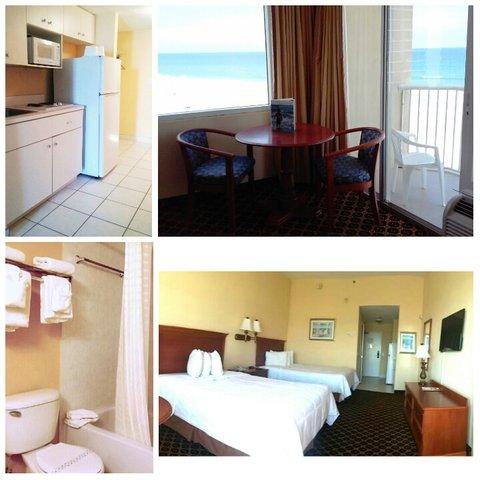 Emerald Shores Hotel - Deluxe Oceanfront Efficiency 2 Queen Beds