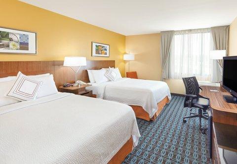 Fairfield Inn & Suites Chicago Lombard - Queen Queen Guest Room