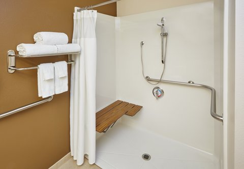Fairfield Inn & Suites Chicago Lombard - Accessible Guest Bathroom - Roll-In Shower