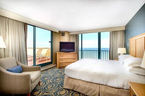 Hilton Daytona BeachResort-Ocean Walk Village - King Suite Terrace Bedroom