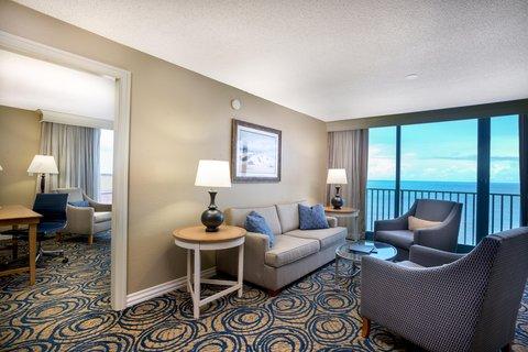 Hilton Daytona BeachResort-Ocean Walk Village - King Suite Terrace Living Area