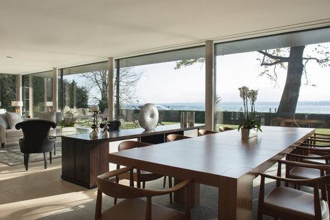 日内瓦香格里拉酒店及温泉 - Villa Du Lac Reserve Geneve Dining Room