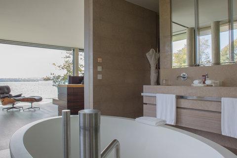 日内瓦香格里拉酒店及温泉 - Villa Du Lac Reserve Geneve Master Bathroom