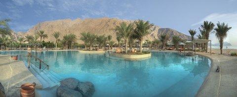 Six Senses Zighy Bay - Salt Water Pool Panorama