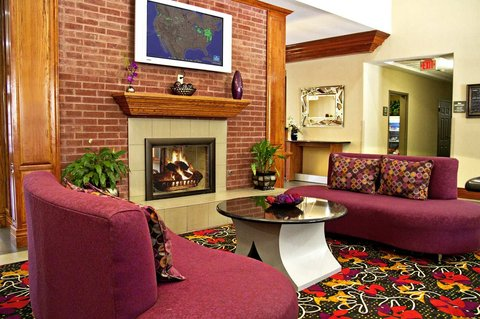 Homewood Suites by Hilton Longview - Lobby Seating by Fireplace