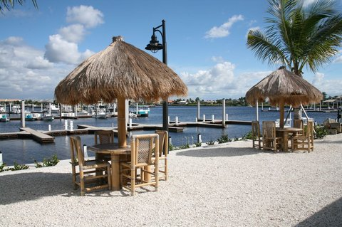 Port Of The Islands Resort - Ship Store Tiki Tables