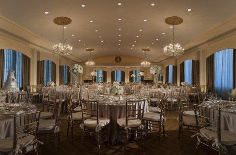 Omni Parker House Hotel - Rooftop Ballroom  Wedding Setup