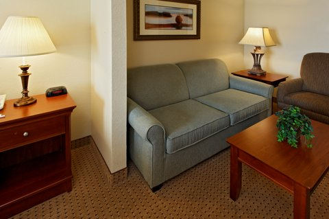 Holiday Inn Express Hotel & Suites Mansfield - Suite with living room and pull out sofa