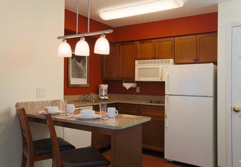 Residence Inn Fort Smith - Studio Suite Kitchen
