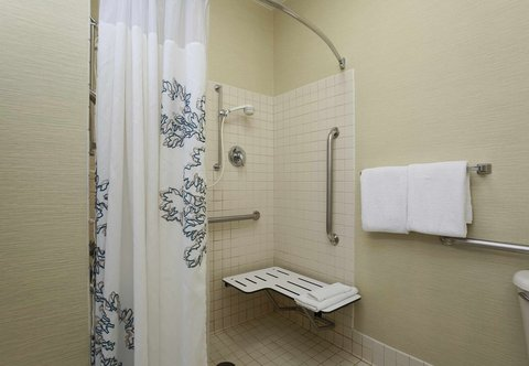 Residence Inn Fort Smith - Accessible Guest Bathroom Roll-in Shower