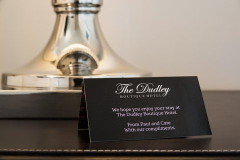 The Dudley Boutique Hotel - With compliments