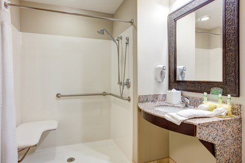 Holiday Inn Express & Suites GALLIANO - ADA Handicapped accessible Guest Bathroom with roll-in shower