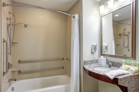 Holiday Inn Express & Suites GALLIANO - ADA Handicapped accessible Guest Bathroom with mobility tub