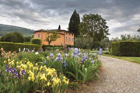Villa La Massa - View on the Iris Garden and Villino