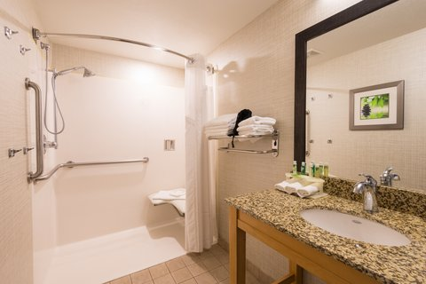 Holiday Inn Express Wheat Ridge-Denver West Hotel - ADA   accessible Guest Bath with roll-in shower