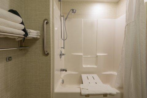 Holiday Inn Express Wheat Ridge-Denver West Hotel - ADA   accessible Guest Bath with transfer tub