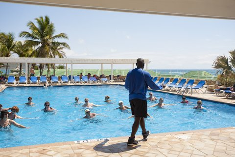 St. James Club All Inclusive Hotel - Water Aerobics in Pool