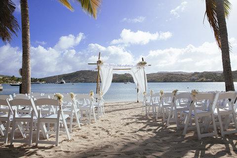 St. James Club All Inclusive Hotel - Mamora Bay Beach Ceremony