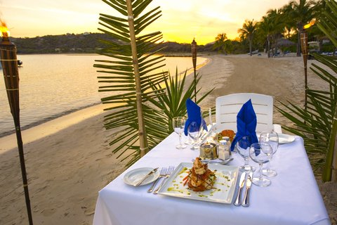 St. James Club All Inclusive Hotel - Romantic Beach Dinner