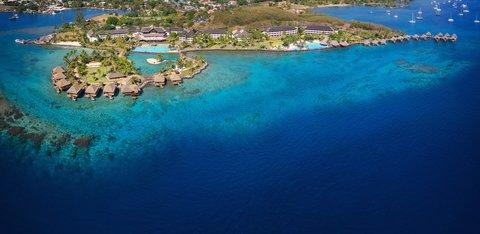 Intercontinental Resort Tahiti - Aerial View of the whole resort and its surrounding lagoon