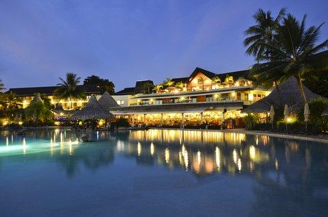 Intercontinental Resort Tahiti - Main Hotel building seen from the pool