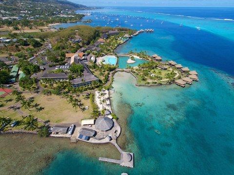 Intercontinental Resort Tahiti - Aerial view of the resort and surroundings