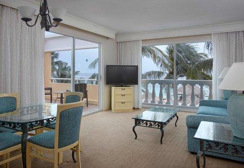Curacao Marriott Beach Resort & Emerald Casino - Oceanfront Suite - Living Room