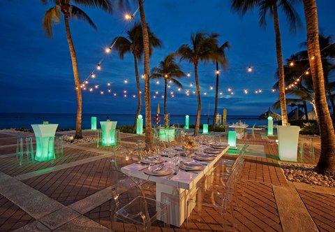 Curacao Marriott Beach Resort & Emerald Casino - Pool Deck Event Set Up