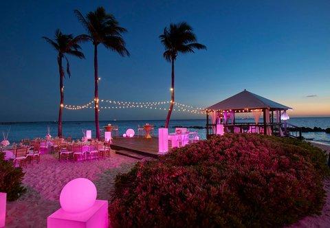 Curacao Marriott Beach Resort & Emerald Casino - Beach Wedding Setup