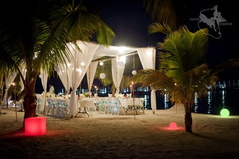 Las Terrazas Resort and Residences - Wedding Reception dinner
