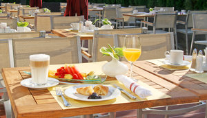 Breakfast at the lovely summer terrace