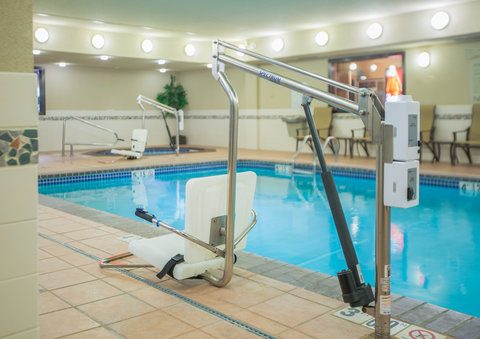 Holiday Inn Express BILLINGS - ADA Handicapped accessible Swimming Pool lift