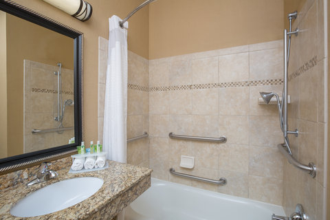 Holiday Inn Express BILLINGS - ADA Handicapped accessible Guest Bathroom with mobility tub