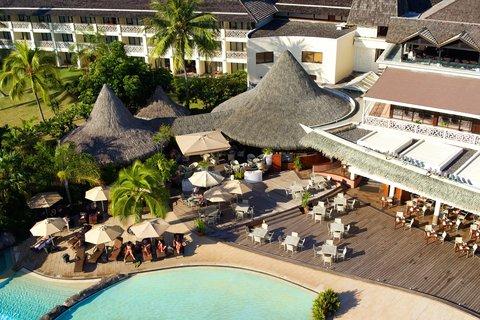 Intercontinental Resort Tahiti - Aerial view of the Tiki Bar