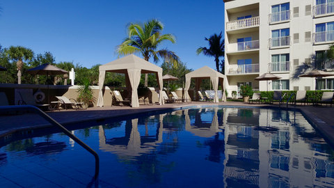 Fairfield Inn And Suites By Marriott Naples Hotel - Pamper yourself in Pool Cabanas