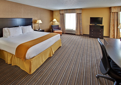 Holiday Inn Express Hotel & Suites Council Bluffs Conv Ctr Area - King Feature Room w  Large Whirlpool Tub   Refrigerator