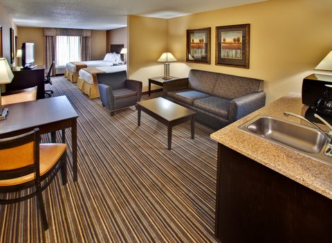Holiday Inn Express Hotel & Suites Council Bluffs Conv Ctr Area - Two Queen Bed Suite w  Sofa Sleeper  Refrigerator  Microwave