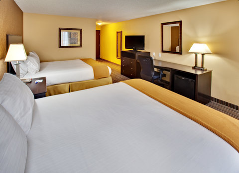 Holiday Inn Express Hotel & Suites Council Bluffs Conv Ctr Area - Two Queen Bed Guest Room w  Refrigerator