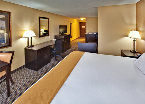 Holiday Inn Express Hotel & Suites Council Bluffs Conv Ctr Area - King Suite w  Sofa Sleeper  Refrigerator   Microwave