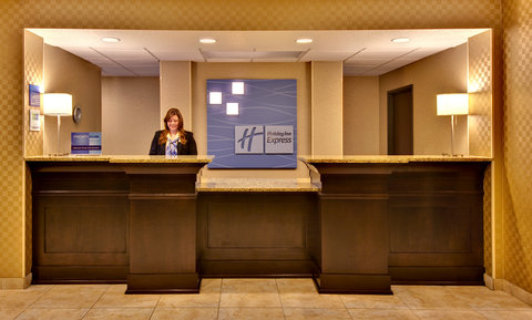 Holiday Inn Express Hotel & Suites Council Bluffs Conv Ctr Area - Hotel Lobby